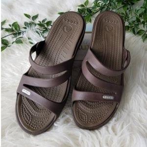 Crocs brown sandals
